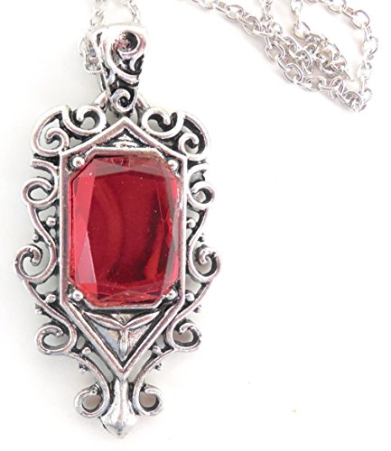 Isabelle Lightwood Demon Sensing Red Stone Necklace by BBBS Affiliate Inspired by Mortal Instruments City of Bones]()