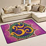 LORVIES Chakra Ohm With The Mandala Area Rug Carpet Non-Slip Floor Mat Doormats for Living Room Bedroom 72 x 48 inches Review