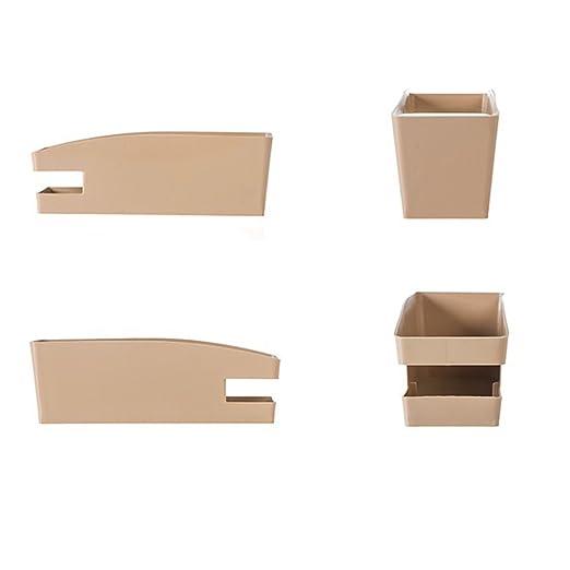OUNONA Caja de Almacenamiento de Zapatos de plástico con Placa Dentada para Zapatos/Controlador/Champú (Color Caqui): Amazon.es: Hogar