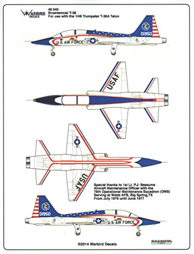 Warbird Decals WBD48040 1:48 Bicentennial T-38 Talon for sale  Delivered anywhere in USA