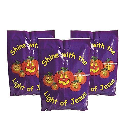 Pumpkin Shine with Jesus Halloween Bags (50 Count) ()