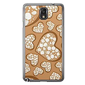 Loud Universe Samsung Galaxy Note 3 Love Valentine Printing Files A Valentine 141 Printed Transparent Edge Case - Brown/White