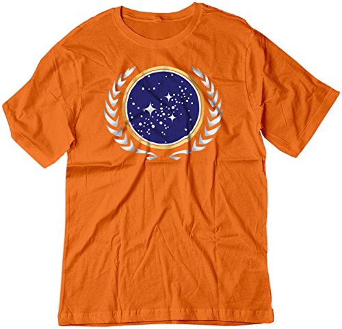 (BSW Men's Star Trek United Federation of Planets Logo Shirt XS Orange)