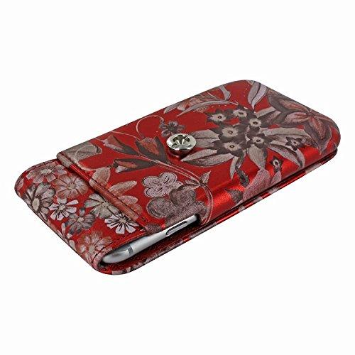 Piel Frama 676 Red Flower iMagnum ESSENCE iMagnum Leather Case for Apple iPhone 6 / 6S / 7 / 8 by Piel Frama (Image #3)