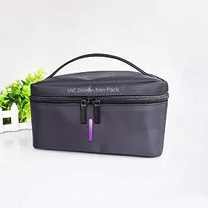 Portable UV Underwear Disinfection Bag, Light Travel Sanitizer Box, UV Sterilization Pack with high elastic composite nylon material,Black