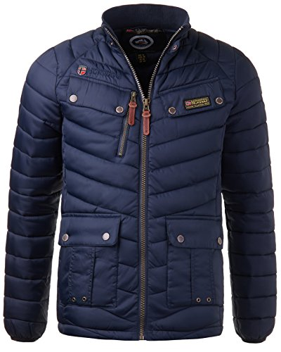 Invernale Da Trapuntato Navy Norway Uomo Geographical Blu Giacca qztw8d8
