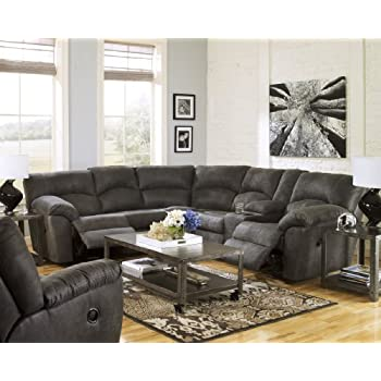 Ashley Tambo 27801-48-49 Sectional Sofa with Left and Right Arm Reclining Loveseats  sc 1 st  Amazon.com : ashley sectional sofa - Sectionals, Sofas & Couches