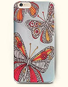 iPhone 6 (4.7inch) Case, OOFIT Phone Cover Series for Apple iPhone 6 (4.7inch) Case -- Colorful Exquisite Butterflies