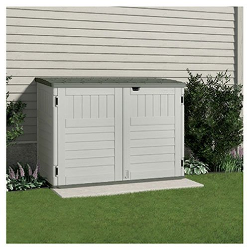 Suncast BMS4700 The Stow-Away Horizontal Storage Shed, (70-cubic (Factory Direct Ramps)