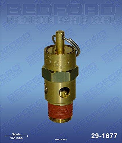 BINKS 83-2429 Bedford Precision 29-1677 Bedford 29-1677 ASME Air Relief Safety Valve - 80 PSI