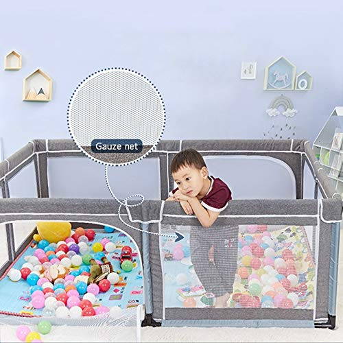 Infant Toddler Fence Household Shatter-Resistant Toys House Baby Game Playpen Children's Safety Fence Crawling Bar with Mat, Height 70cm, Size Optional (Size : 150×190cm) by Child safety gate (Image #5)