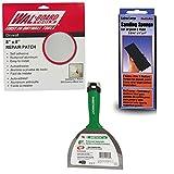 Wal-Board 8'' x 8'' Drywall Repair Patch - Adhesive Mesh and Aluminum (Full Repair Kit)
