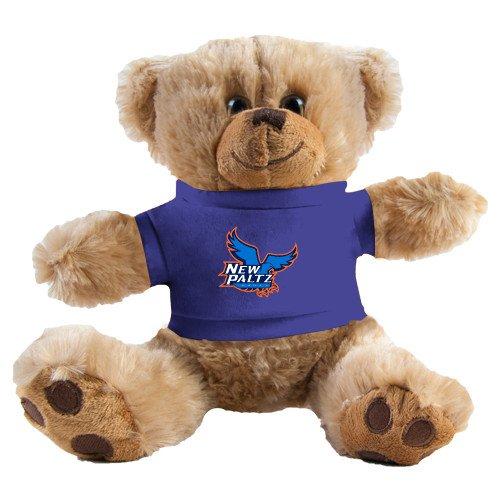 New Paltz Plush Big Paw 8 1/2 inch Brown Bear w/Royal Shirt 'Official Logo' by CollegeFanGear