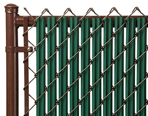 Ridged Slats Slat Depot Single Wall Bottom Locking Privacy Slat for 3', 4', 5', 6', 7' and 8' Chain Link Fence (4ft, Green) Chain Link Fencing Parts
