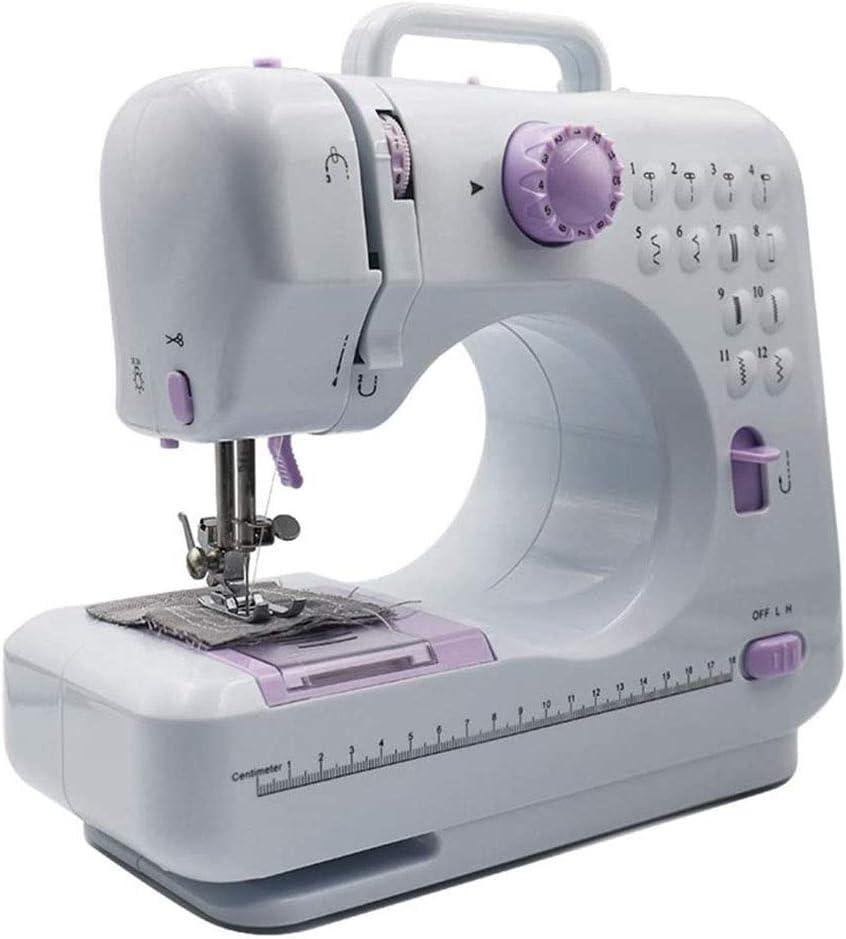 LIULIU Mini máquina de Coser eléctrica portátil Ligero Mini 12 Puntos de sutura para el hogar multifunción máquinas de Coser para Principiantes Inicio Equipado