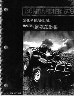704100003 2000 bombardier traxter xt 7400 7401 7413 7414 7415 rh amazon com bombardier traxter 500 repair manual bombardier traxter 500 workshop manual