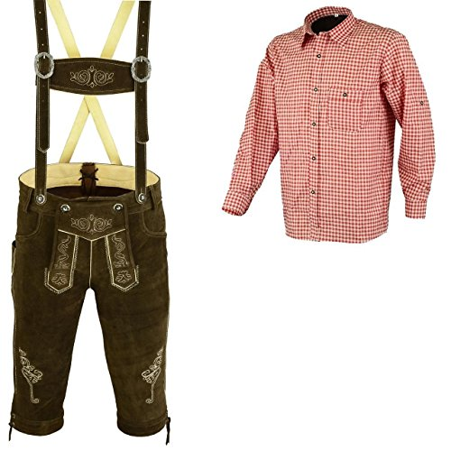 Bundhosen Costume (Bavarian Oktoberfest Trachten Lederhosen Bundhosen Costumes Two Pc Set (34))
