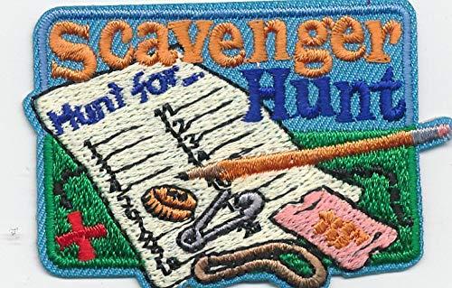 2Pcs Girl Boy Cub Scavenger Hunt List Search Fun Patches Crests Badges Scout Guide (Best Scavenger Hunt List)