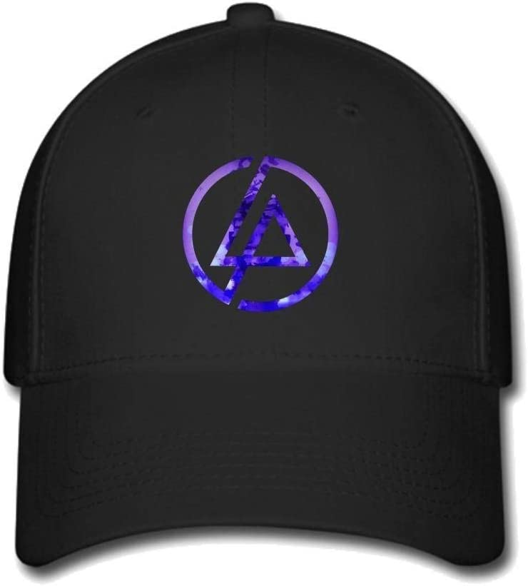 Qian Mu888 Custom American Linkin Park Rock Band Logo Baseball Caps Adjustable Hats Black