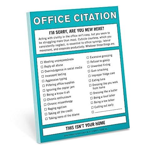 Knock Knock Office Citation Nifty Note - Boss Office Desk