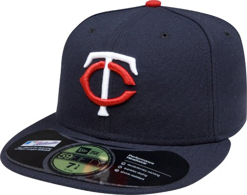New Era Men Authentic On-Field Cap, Minnesota Twins, 7 3/8 (Minnesota Twins Baseball Hat)