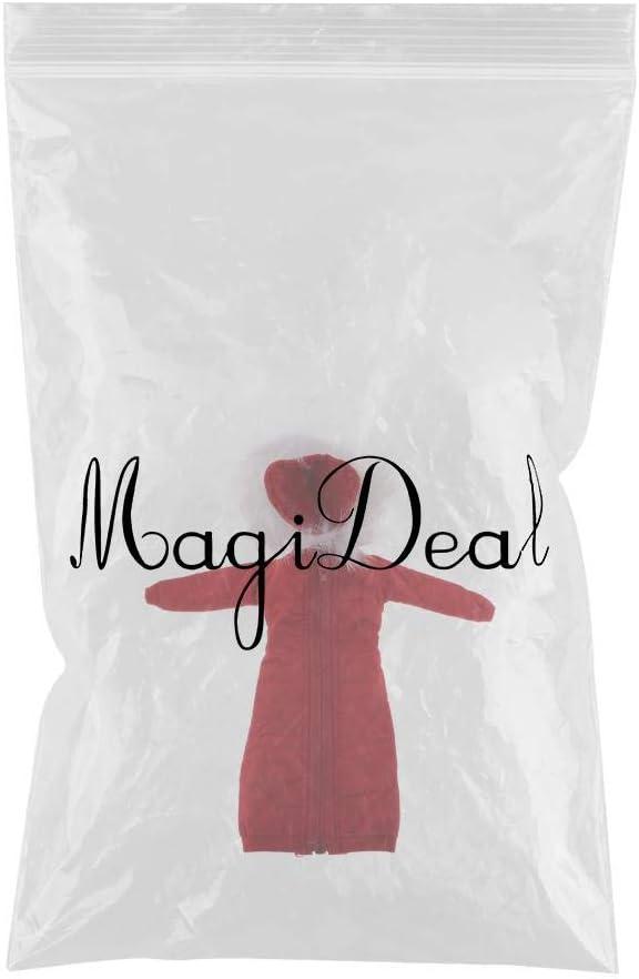 Rojo MagiDeal 1//6 Chaqueta con Capucha Larga Abrigo Acolchado de Invierno Ropas para Figura de Acci/ón 12 Pulgadas