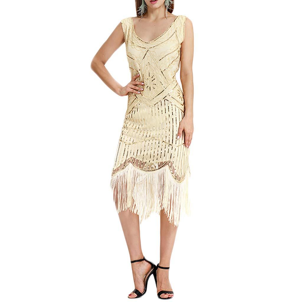 OHQ Femme Robe De Soiree Paillette R/éTro Pull Noel Chic Hiver Soir/éE Chambre Princesse Fille Longue Banquet Mari/éE