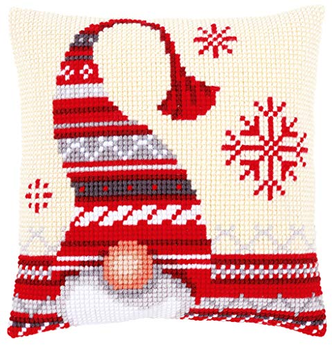 Chunky Cross Stitch - Vervaco Christmas Elf 1 Chunky Cross Stitch Cushion Panel Kit