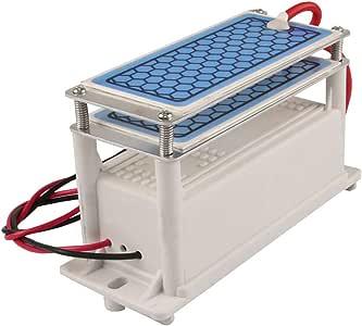 GXHGRASS Generador de ozono de cerámica portátil, purificador de Aire y Agua con ozonizador de Placa de cerámica ...