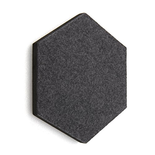 Thehaki Sandwich Felt Board Hexagon Type Memo Board 1pcs (14colour option) (Dark Gray) ()