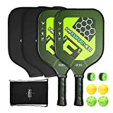 A11N Premium Pickleball Paddle Set - Graphite Face and Honeycombed Polymer Core Paddles