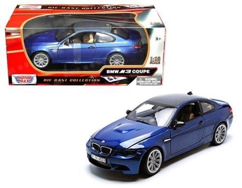 New 1:18 W/B MOTOR MAX COLLECTION - BLUE BMW M3 COUPE WITH CARBON FIBER ROOF Diecast Model Car By MOTOR MAX (Bmw M3 Model compare prices)
