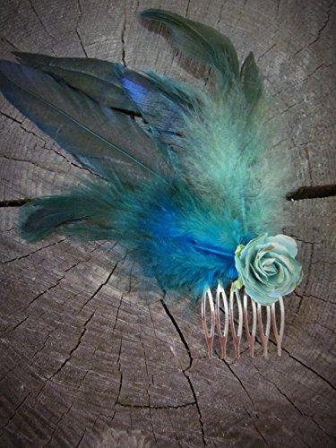 'Duchess' - Flower Hair Comb, Butterfly Hair Comb, Feather Hair Accessories, Bridal Hair Accessories, Wedding Hair Comb