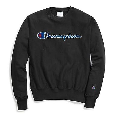 1f0273d96191 Champion Life Men's Reverse Weave Sweatshirt, Chainstitch Script at Amazon  Men's Clothing store: