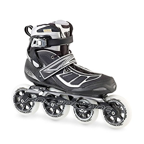 Rollerblade 15 TEMPEST 90C High Performance Fitness/Training Skate with 4x90mm Supreme Wheels, Black/Silver, US Men 9.5