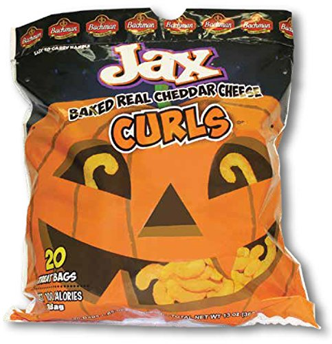 Jax Baked Real Cheddar Cheese Curls - Halloween Snack Pack of 20 Treat Bags