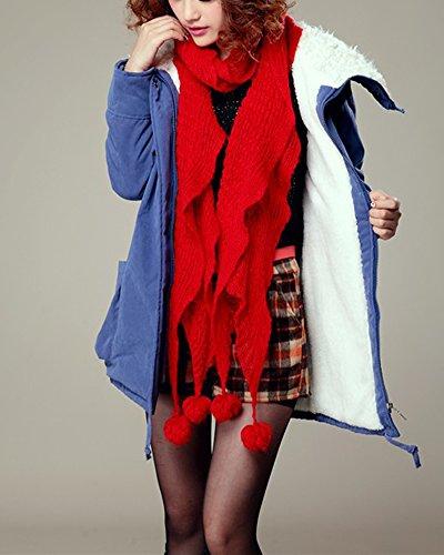 Sapphire Coats Jacket Lightweight Padded Cotton Cihui Blend Blue Winter Outwear Parka Puffer Womens Down Overcoat OHYRwxa