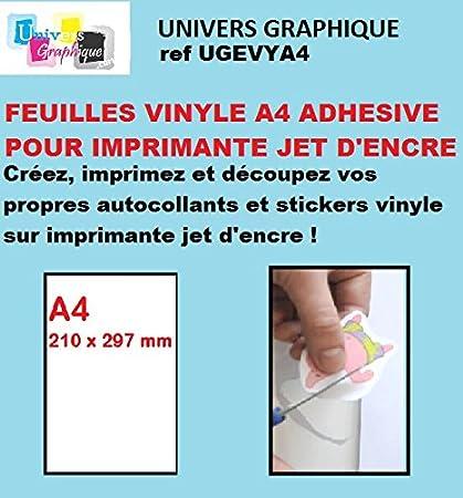 Vinilo 10 hojas A4 adhesivo para impresora de inyección de ...