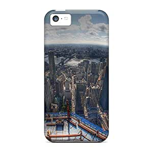 New Fashionable Cynthaskey MvwwwGF1279hLITR Cover Case Specially Made For Iphone 5c(fabulous Fish Eye View Of Nyc Hdr)