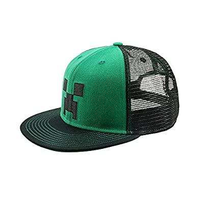 JINX Minecraft Creeper Face Premium Youth Snap Back Hat from JINX