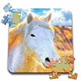 3dRose Doreen Erhardt Horses - Sun Kissed White