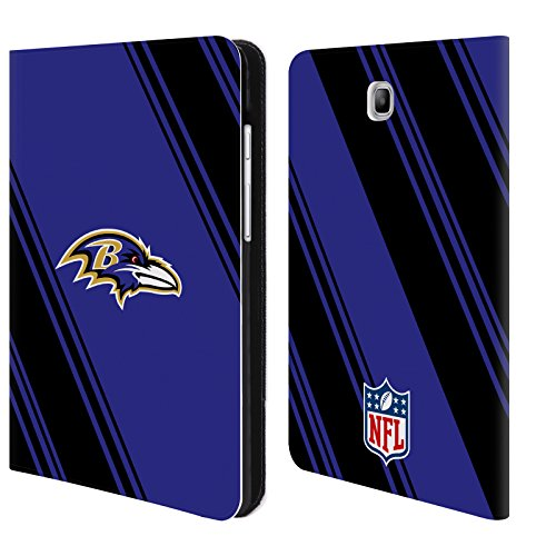 - Official NFL Stripes 2017/18 Baltimore Ravens Leather Book Wallet Case Cover for Samsung Galaxy Tab A 8.0