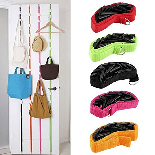 Cucumis 4 Pcs Adjustable Over Door Straps Hanger Hat Clothes Coat Bag Rack Organizer by Cucumis (Image #1)
