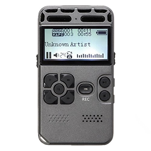 SODIAL 64G Rechargeable LCD Digital Audio Sound Voice Recorder dictaphone MP3 Player