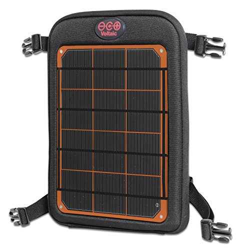 Voltaic Systems - Fuse 6 Watt USB Solar Charger with Backup Battery Pack - Orange | Powers Phones, Tablets, DSLR cameras, & More | Charges Your Phone as Fast as - Case Waterproof 1030