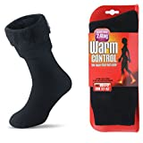 Womens Men Winter Warm Wool Pile Lined Insulated Thermals Socks Thick Boots Heat Socks Cold Weather (Black Deer, L/Mens 7-12; Womens 10-13)