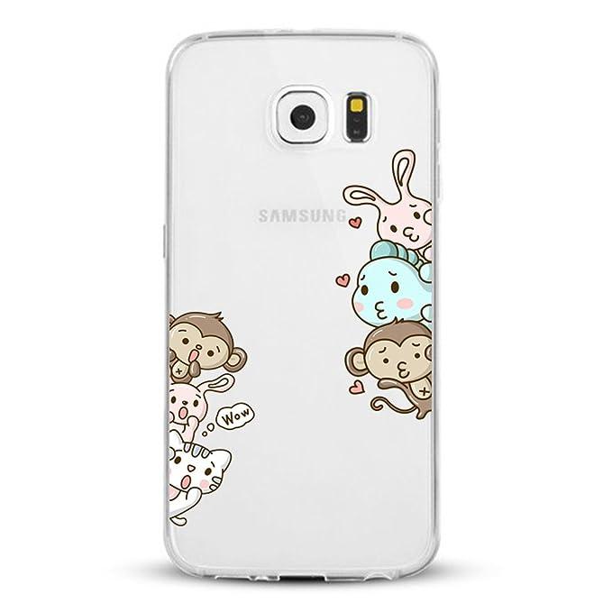 Caler ® Funda Compatible/Reemplazo para Samsung Galaxy S6 Funda, Carcasa impresión TPU Funda Cubierta de Silicona de Ultra Delgado de Estuche Carcasa ...