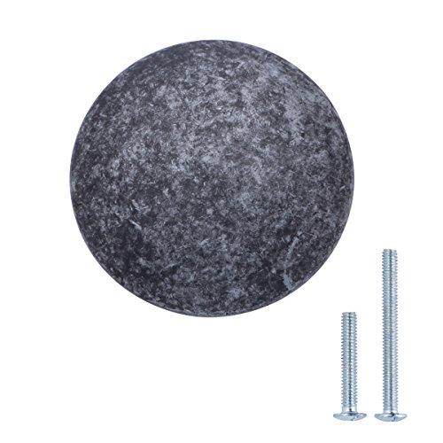 (AmazonBasics Round Cabinet Drawer Knob, 1.18 Inch Diameter, Antique Silver, 10-Pack)