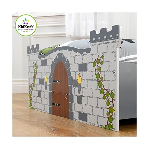 KidKraft Boy's Medieval Castle Toddler Bed 3
