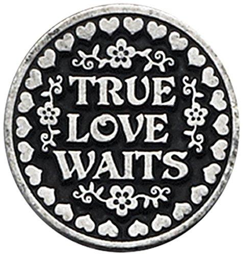 Cathedral Art PT137 True Love Waits Pocket Token, 1-Inch